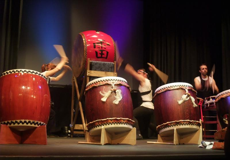 Kaminari drummers at Friargate Theatre